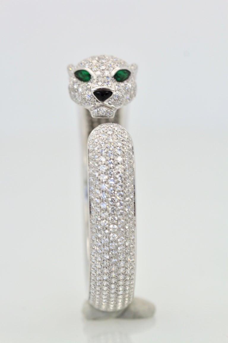 Cartier Diamond Panthere Bracelet 15.74 Carat For Sale 1