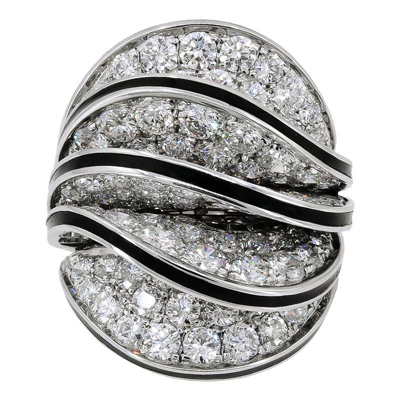 Cartier Diamond White Gold Paris Nouvelle Vague Ring