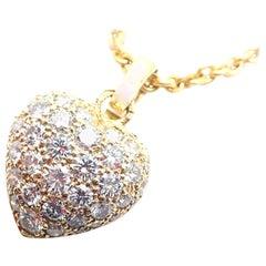 Cartier Diamond Pavé Large Heart Yellow Gold Pendant Necklace