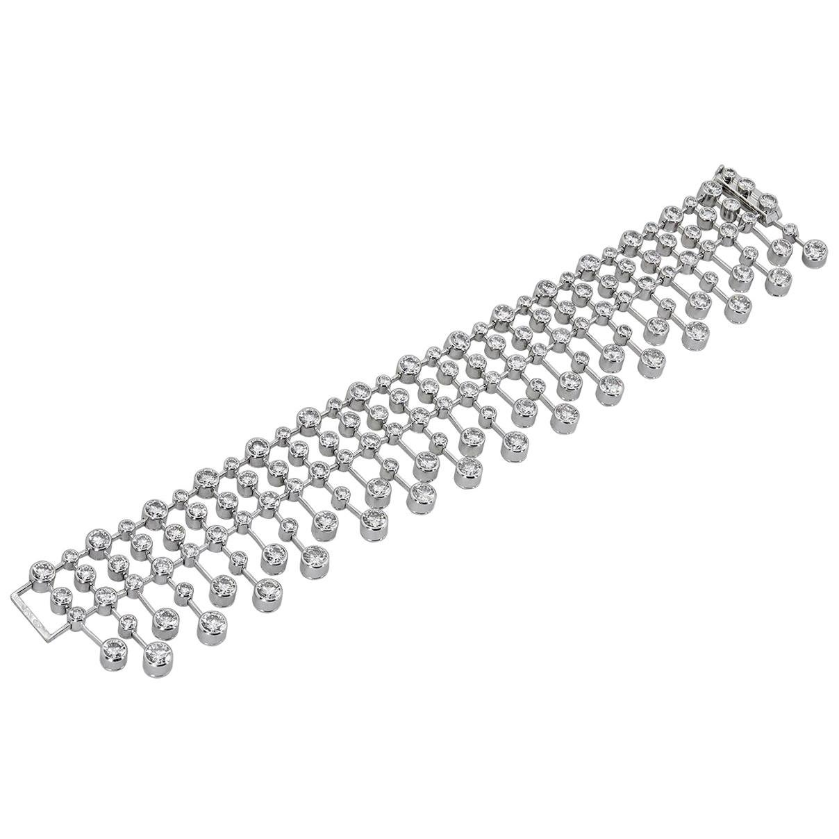 Cartier Diamond Platinum Bracelet