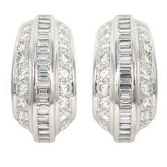 Cartier  Diamond Platinum Clip-On Earrings