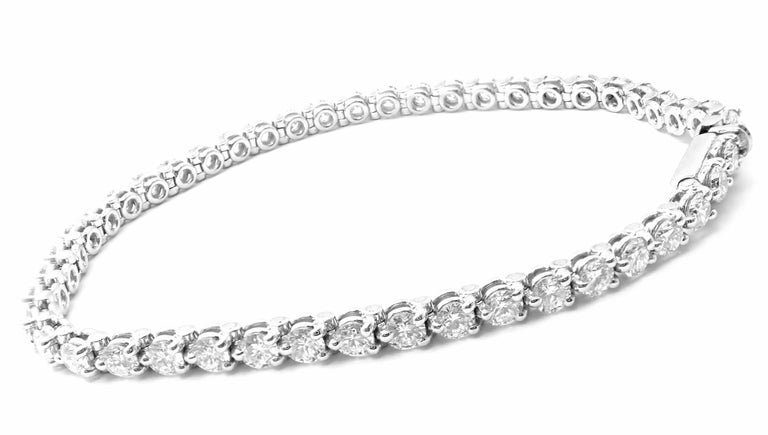 Cartier Diamond Platinum Line Tennis Bracelet In Excellent Condition For Sale In Holland, PA