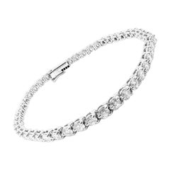 Cartier Diamond Platinum Line Tennis Bracelet