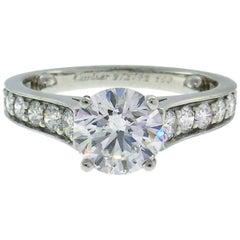 Cartier Diamond Platinum Ring 1.01 Carat D VVS2 GIA Report