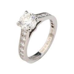 Cartier Diamond Platinum Solitaire Engagement Ring