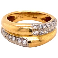 Cartier Diamond Ring in 18 Karat Yellow Gold