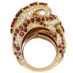 Cartier Diamond, Ruby Dolphin Ring