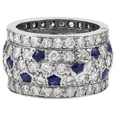 Cartier Diamond, Sapphire Wedding Band