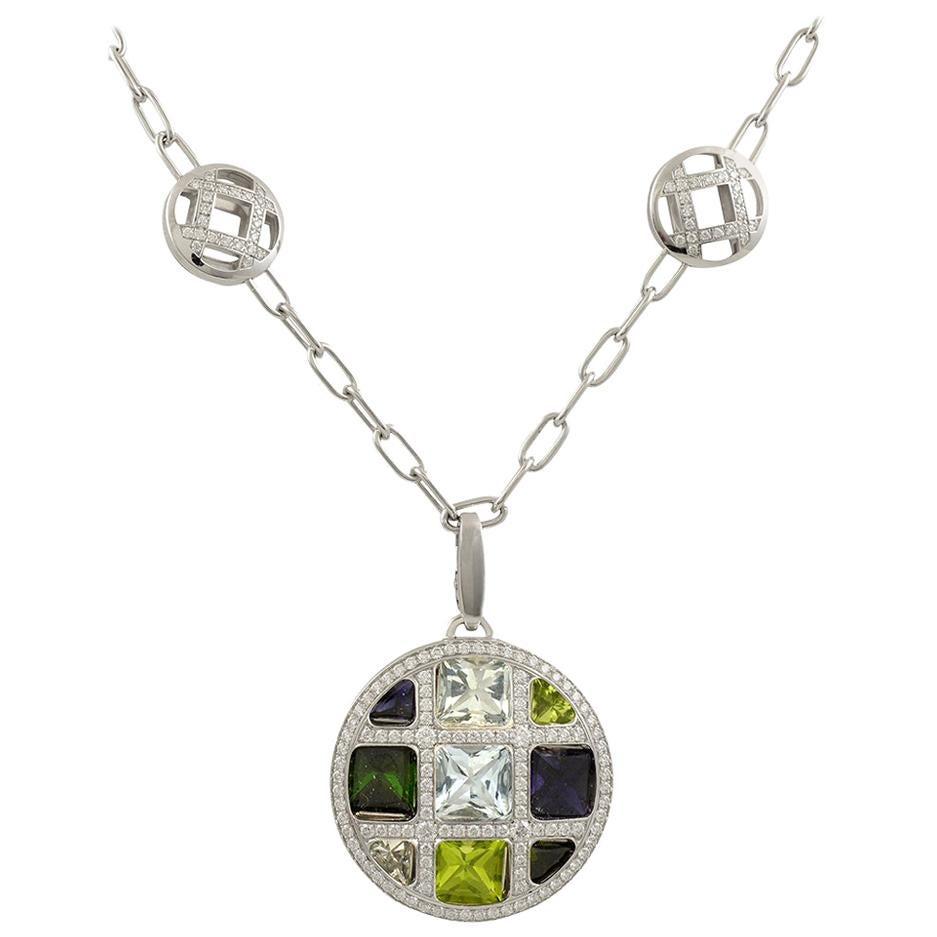 Cartier Diamond, Semi-Precious Stones Necklace