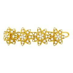 Cartier Diamond Set Gold Barrette