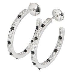 Cartier Diamond Set Onyx Panthere de Cartier Earrings 1.04 Carat