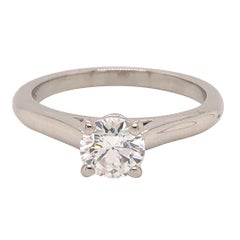 Cartier Diamond Solitaire Engagement Ring 0.71 Carat G VVS2