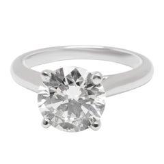 Cartier Diamond Solitaire Engagement Ring in Platinum '2.01 Carat H/VS1'