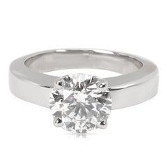 Cartier Diamant Solitär Verlobungsring in Platin GIA Zertifiziert 1,80 Carat