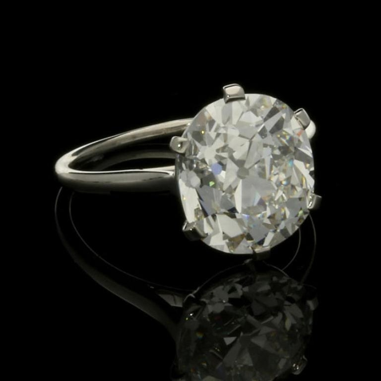 Cartier Diamond Solitaire Ring with a 6.06 Carat Old Mine Brilliant Cut Diamonds 5