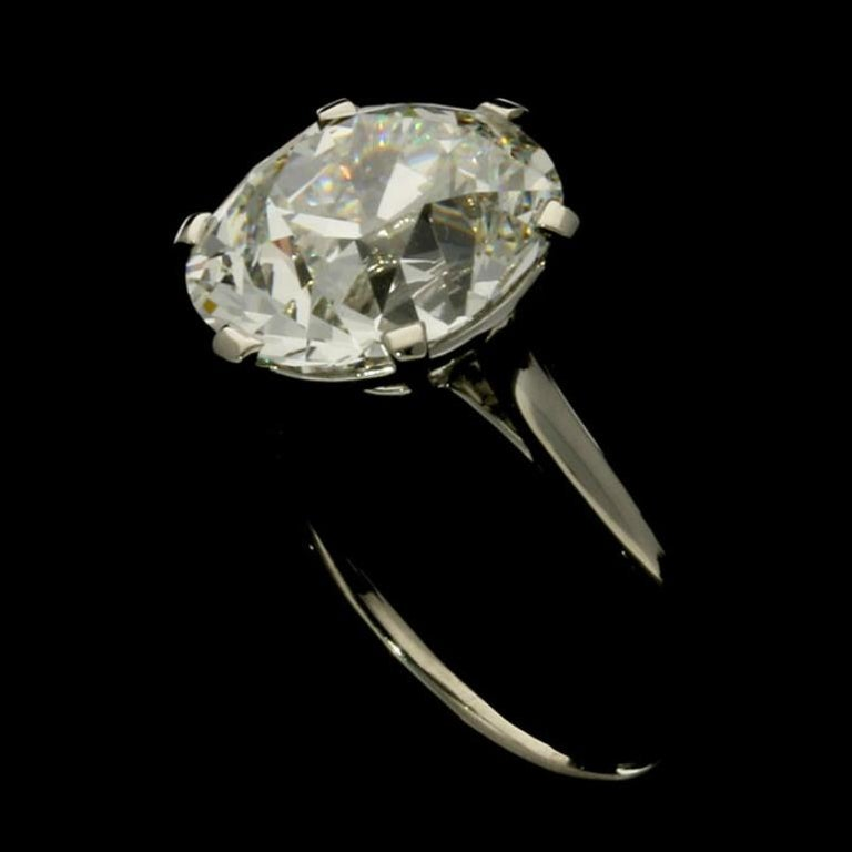 Cartier Diamond Solitaire Ring with a 6.06 Carat Old Mine Brilliant Cut Diamonds 6