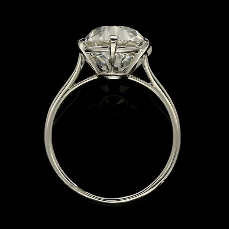 Cartier Diamond Solitaire Ring with a 6.06 Carat Old Mine Brilliant Cut Diamonds 7