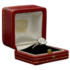 Cartier Diamond Solitaire Ring with a 6.06 Carat Old Mine Brilliant Cut Diamonds