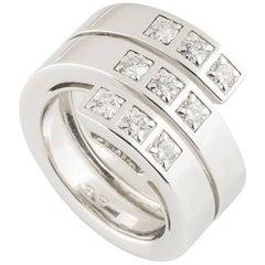 Cartier Diamond Spiral Band Ring