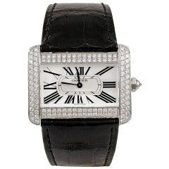 Cartier Diamond Tank Divan Diamond Watch