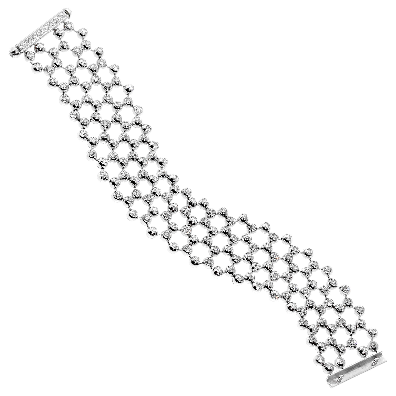 Cartier Diamond Tennis Multistrand Bracelet