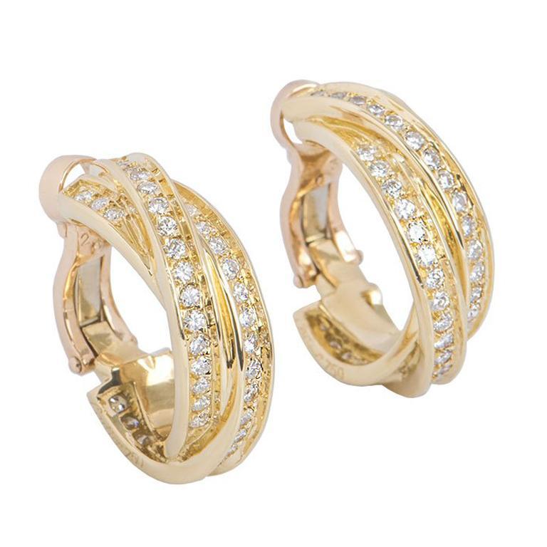 14cc82468fd Cartier Diamond Trinity de Cartier Earrings at 1stdibs