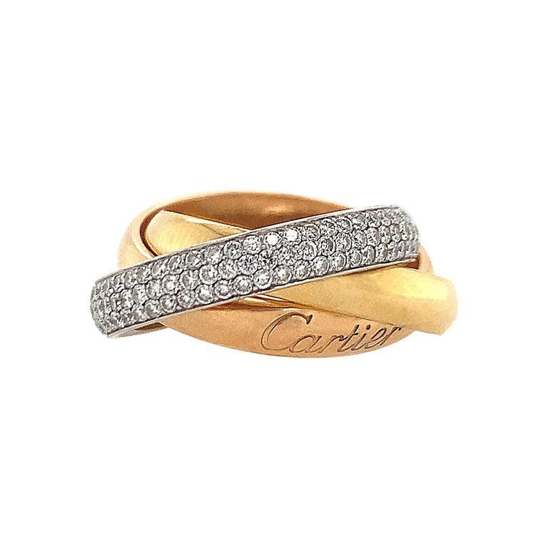 Cartier Diamond Trinity Ring For Sale