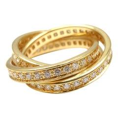 Cartier Diamond Trinity Yellow Gold Band Ring