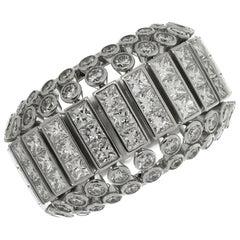 Cartier Diamond White Gold Domed Ring