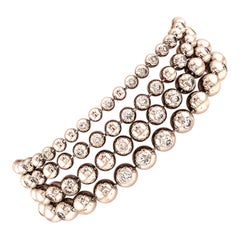 Cartier Diamond White Gold Perles de Diamants Bracelet