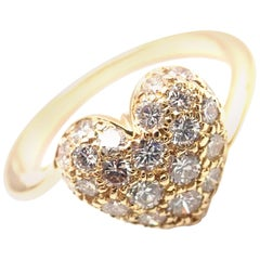 Cartier Diamond Yellow Gold Heart Ring