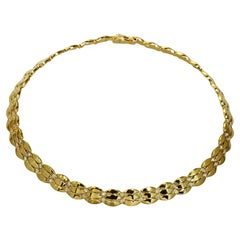 Cartier Diamond Yellow Gold Link Necklace Box Papers