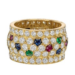 "Cartier Diamond, Ruby, Sapphire and Emerald ""Nigeria"" Ring"