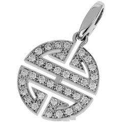 Cartier Diamonds 18 Karat White Gold Longevity Charm