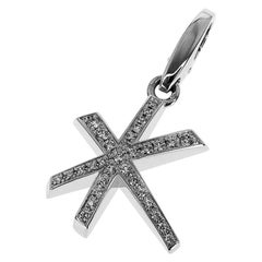 Cartier Diamonds 18 Karat White Gold Star Shaped Charm