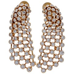 Cartier Diamonds, 18 Karat Yellow Gold Chandelier Earrings