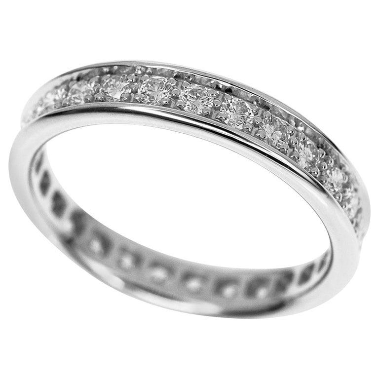 Cartier Infinity Bracelet: Cartier Diamonds Eternity 18 Karat White Gold Ring For
