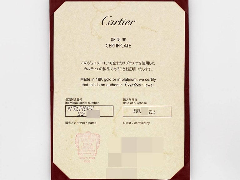 Cartier Diamonds Pearl 18 Karat White Gold Agrafe Necklace For Sale 6