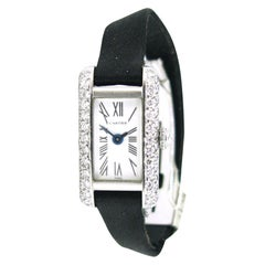 Cartier Diamonds Platinum White Gold Lady Wristwatch