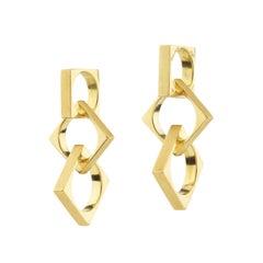 Cartier Dinh Van 18 Karat Gold 1970s Earrings