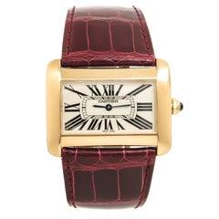 Cartier Yellow Gold Divan Large Quartz Wristwatch
