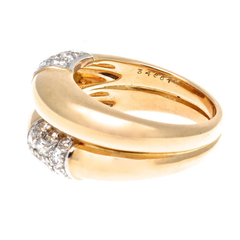 Cartier is the story of family and not just jewelry. Every design is filled with love and mindfulness. If the Cartier signature adorns the jewelry it represents the honorable name and family. Featuring two effortless swooping golden rings uniquely