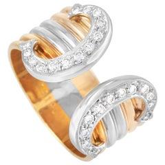 Cartier Double C 18 Karat Tricolor Diamond Ring
