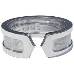 Cartier Double C Ring in 18 Karat White Gold