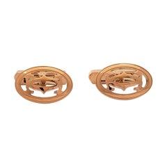 Cartier 'Double C' Rose Gold Cufflinks