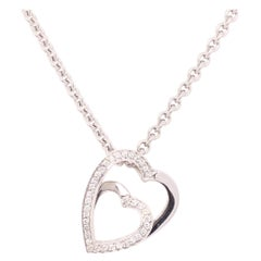 Cartier Double Heart Diamond Necklace