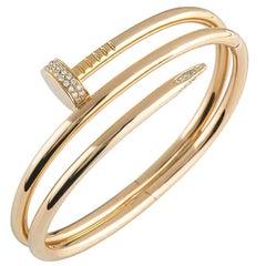 Cartier Double Juste Un Clou Diamond Rose Gold Bracelet