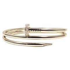 Cartier Double Juste Un Clou with Diamonds 18 Karat White Gold