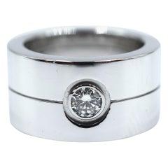 Cartier Double Love Diamond Ring 18 Karat White Gold