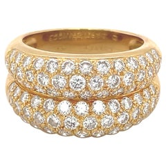 Cartier Double Pave Diamond Band